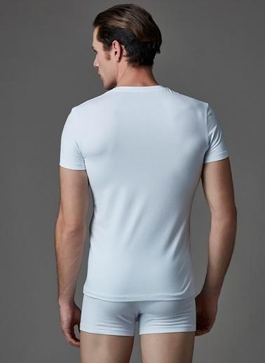 Dagi Compact O Yaka T-Shirt 2'li Beyaz